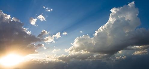Cielo, Sol y nubes