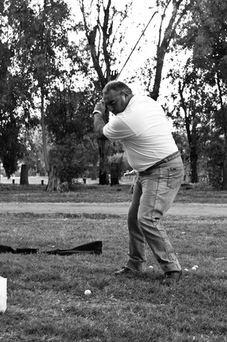 Golfista en San Esteban-0869