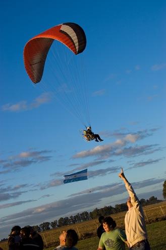 Parapente con bandera argentina-1337