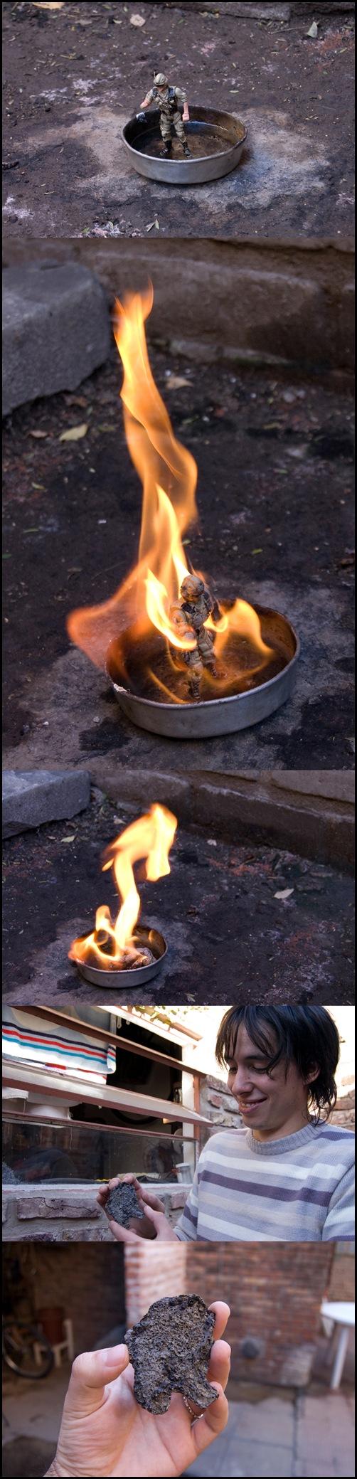 Con Marquitos prendiendo fuego cosas